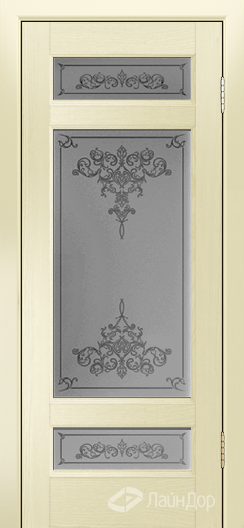 Двери ЛайнДор Мишель К тон 42 стекло Лира светлое