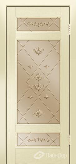 Двери ЛайнДор Мишель К тон 42 стекло Прима бронза