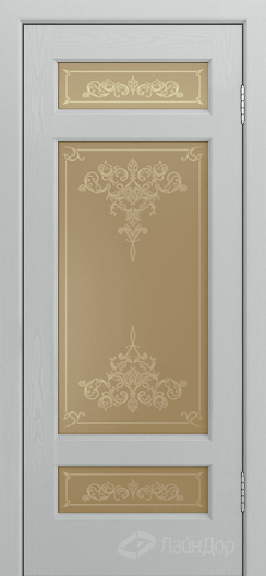 Двери ЛайнДор Мишель К тон 46 стекло Лира бронза